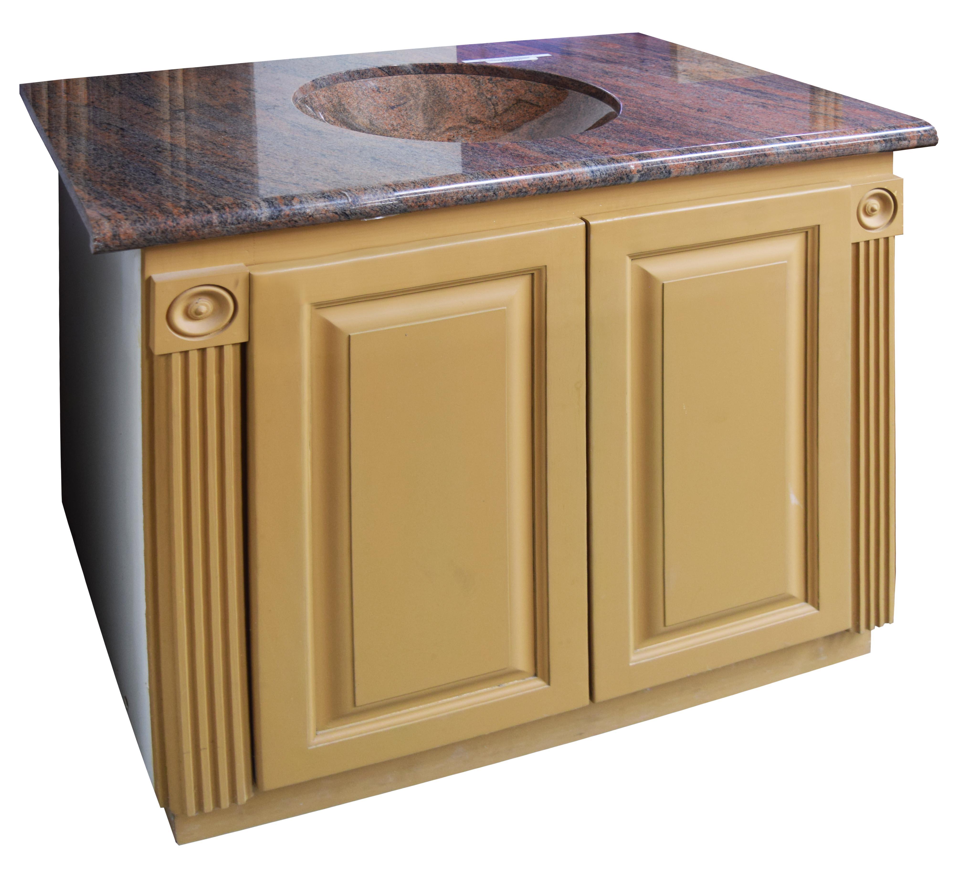 Wooden Bathroom Vanity Sets With Granite Countertops - White