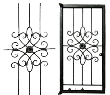 Wrought Iron Burglar Proof Windows on grill design for home