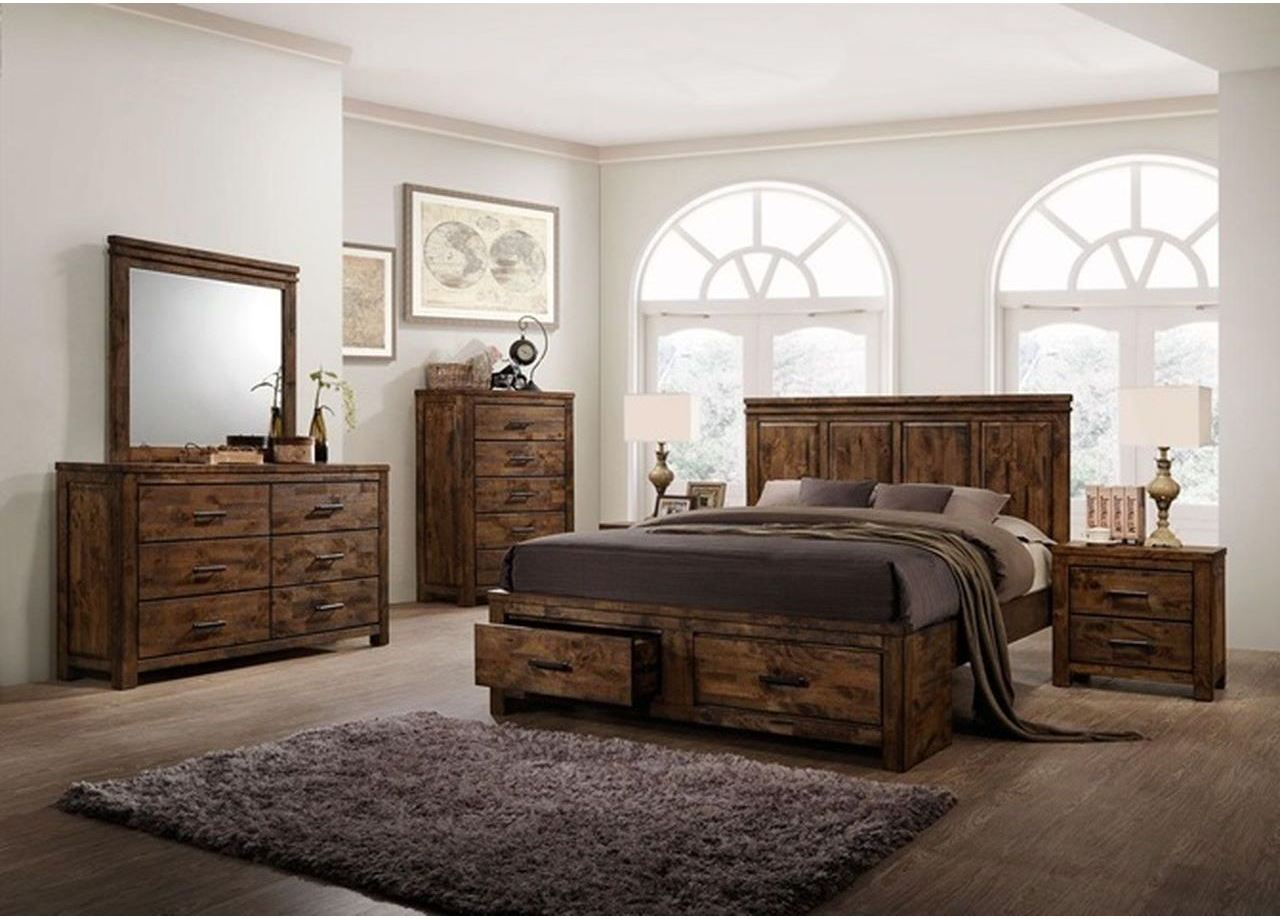 Marvelous photograph of santiago solid wood bedroom co signature selection santiago solid wood  with #382920 color and 1280x919 pixels