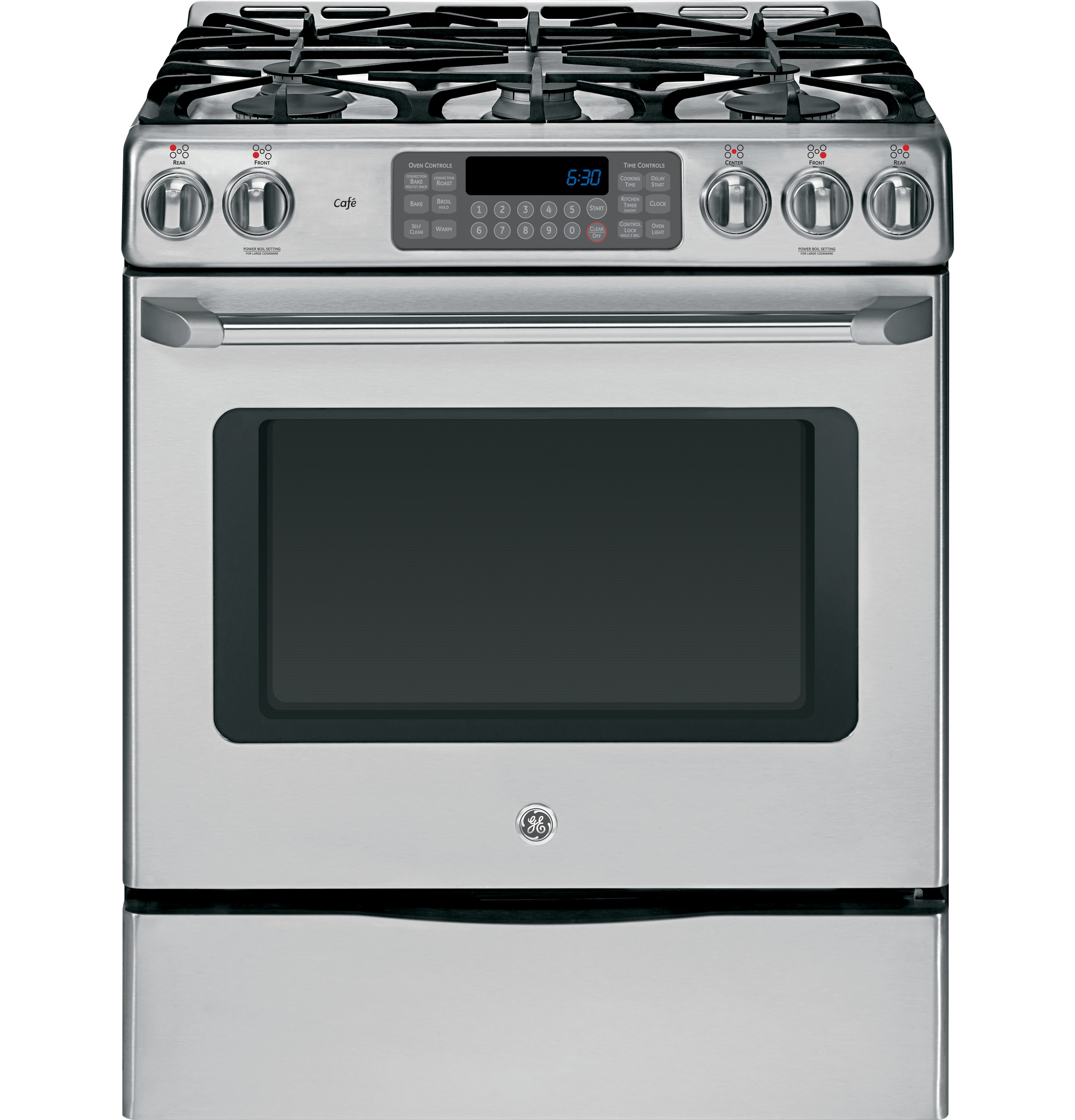 Ge Monogram Series 48 All Gas Professional Range With 4 Burners Grill And Griddle Zgp484ngrss Lewis Appliances In Trinidad The Building Source