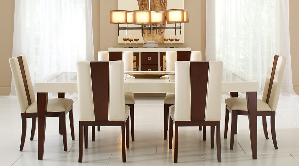 Cindy Crawford Home San Francisco Ash 7 Pc Rectangle Dining Room
