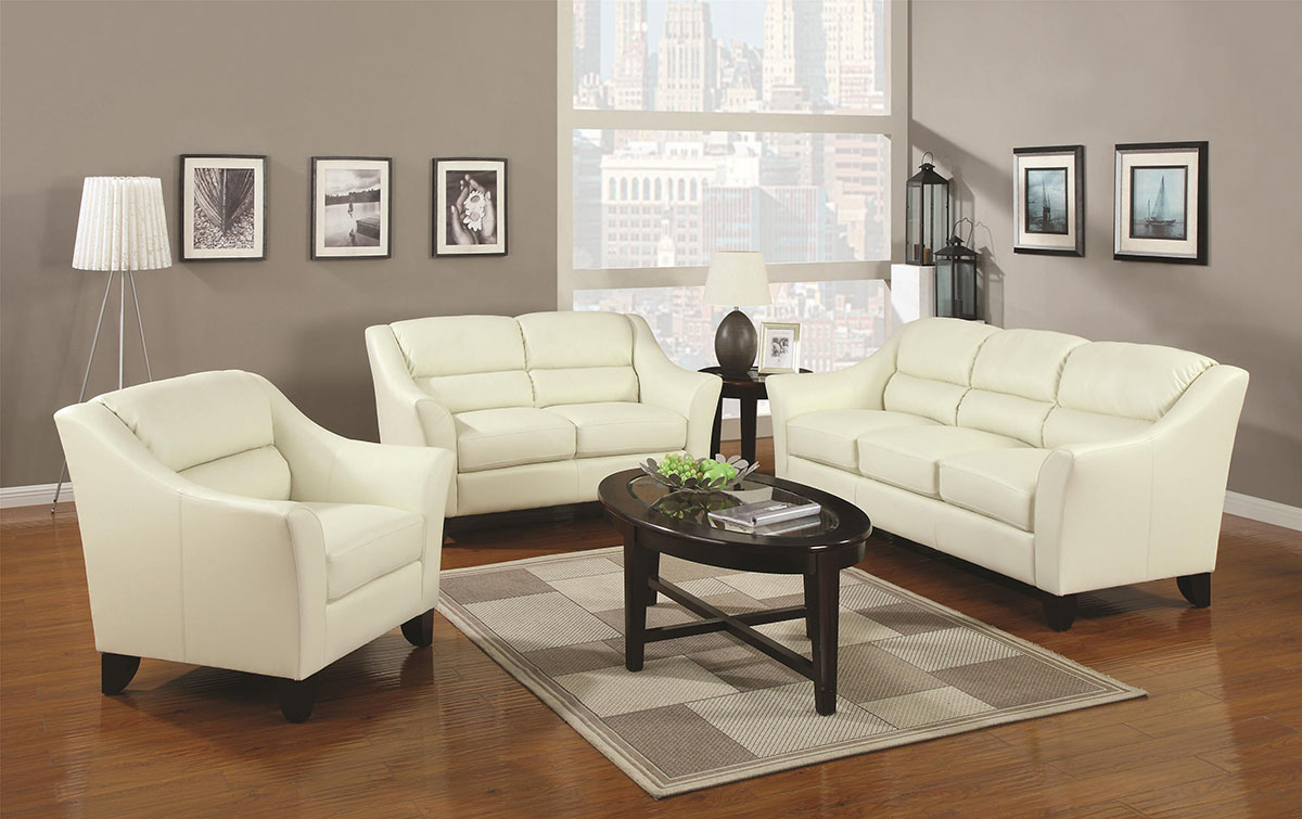 ivory leather living room sets. Black Bedroom Furniture Sets. Home Design Ideas