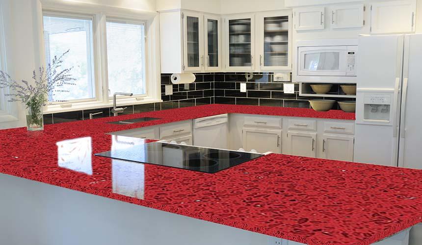 Granite Natural Stone Countertops Red
